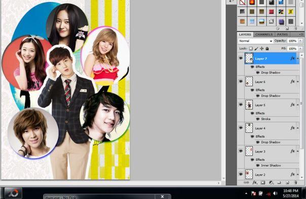 12 [Tutorial and Stock] Membuat Cover Fanfic Dengan Banyak Cast Menggunakan Photoshop sunny suho taemin krystal minho sulli lovely