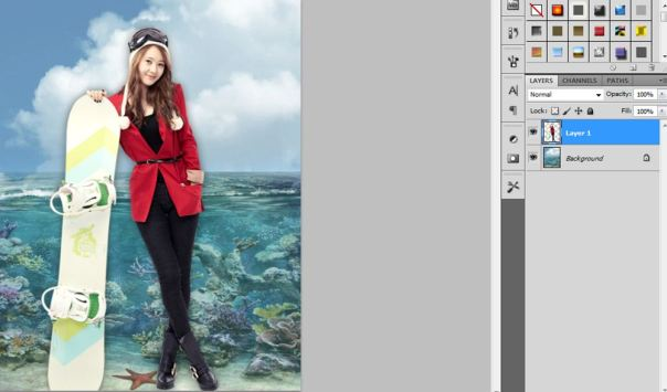 2 [Tutorial and stock] Membuat Manipulasi Bawah Air Menggunakan Photoshop