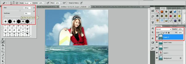 6 [Tutorial and stock] Membuat Manipulasi Bawah Air Menggunakan Photoshop