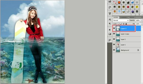 7 [Tutorial and stock] Membuat Manipulasi Bawah Air Menggunakan Photoshop