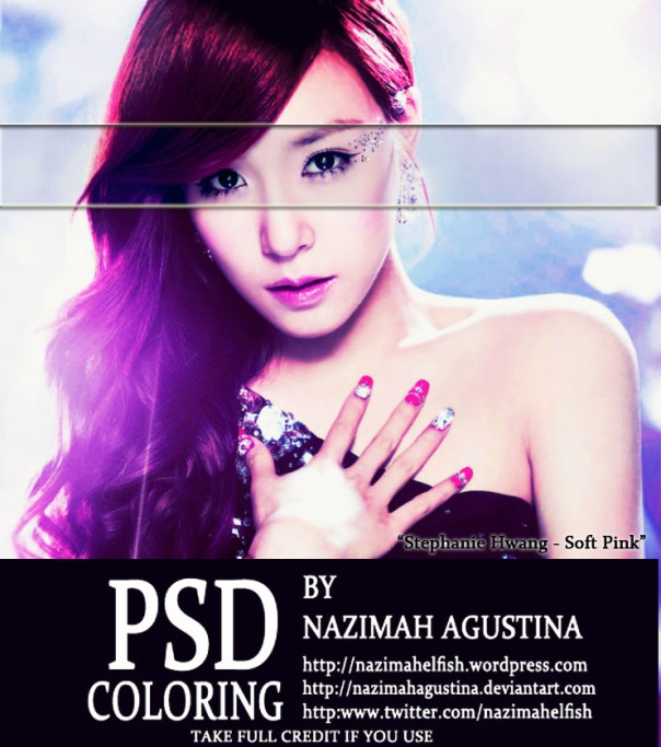 8 preview psd coloring snsd tiffany hwang soft pink vintage hard lighting awesome by nazimah agustina