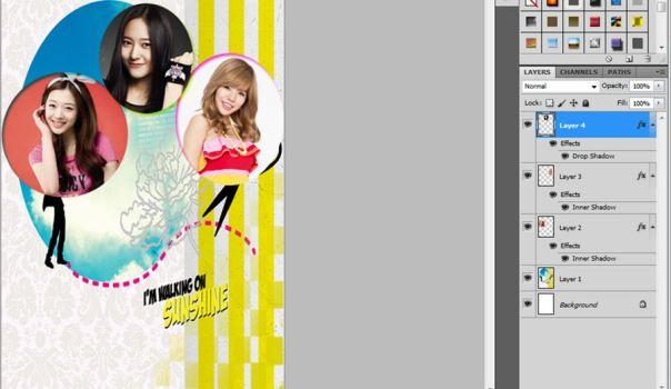 8 [Tutorial and Stock] Membuat Cover Fanfic Dengan Banyak Cast Menggunakan Photoshop sunny suho taemin krystal minho sulli lovely