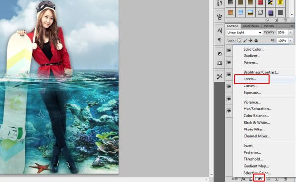 9 [Tutorial and stock] Membuat Manipulasi Bawah Air Menggunakan Photoshop