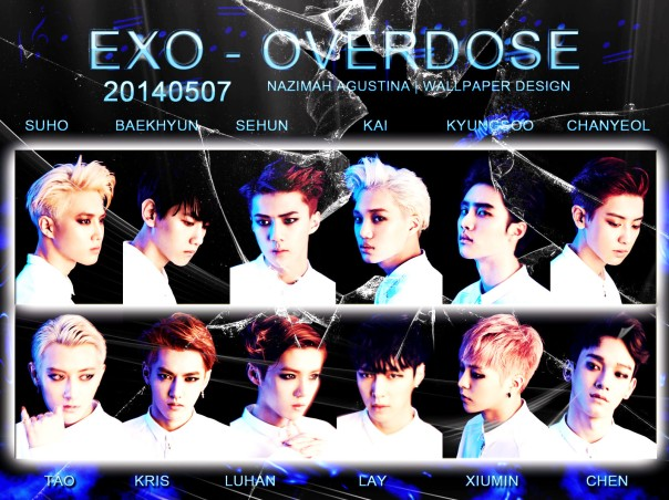 EXO FOR OVERDOSE 20140507 GRAPHIC BROKEN GLASS WALLPAPER BY NAZIMAH AGUSTINA