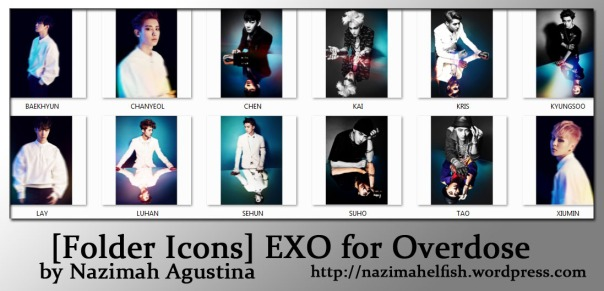 [Folder Icons] EXO for Overdose by Nazimah Agustina