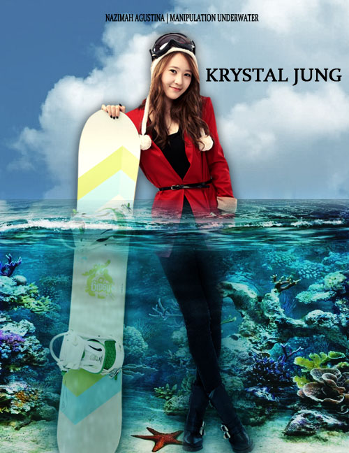f(x) krystal jung korean singer for tutorial how to make simple manipulation underwater using photoshop by nazimah agustina