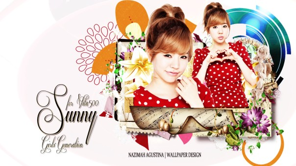 SNSD Sunny Cute Frame Wallpaper for Vita500 by Nazimah Agustina