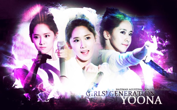 SNSD YOONA ABSTRACT WALLPAPER BY NAZIMAH AGUSTINA beauty, innocent, gg japan tour, pretty visual face of group
