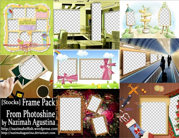 stock editan frame pack png render from photoshine by nazimah agustina