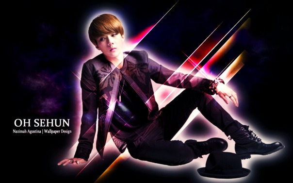 stock sehun abstrack wallpaper by nazimah agustina