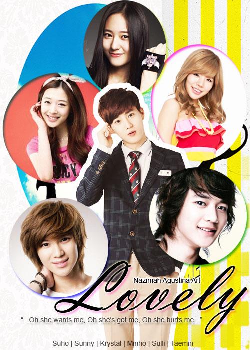 [Tutorial and Stock] Membuat Cover Fanfic Dengan Banyak Cast Menggunakan Photoshop lovely happy suho sulli krystal sunny taemin minho