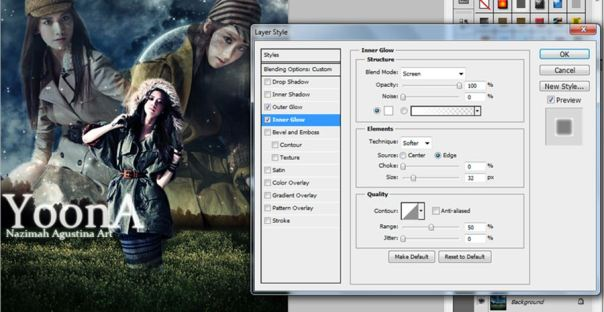 Tutorial How To Make Dark Fantasy Wallpaper using adobe photoshop cs5 yoona snsd visual lead dance