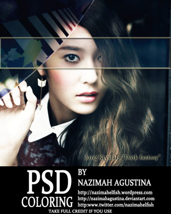 9 f(x) jung krystal psd coloring dark fantasy wallpaper editing by nazimah agustina