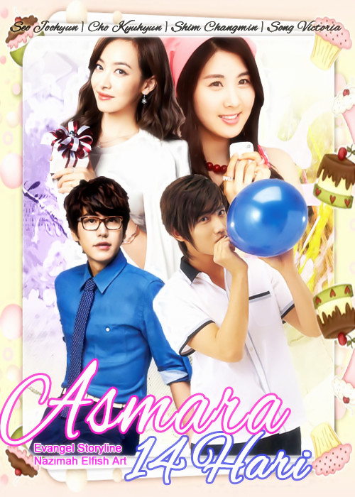 asmara 14 hari Seo Joohyun (Seohyun SNSD), Cho Kyuhyun (Super Junior), Shim Changmin ( TVXQ), and Song Qian Victoria f(x) romance school-life changseo kyutoria seokyu changtoria changkyu