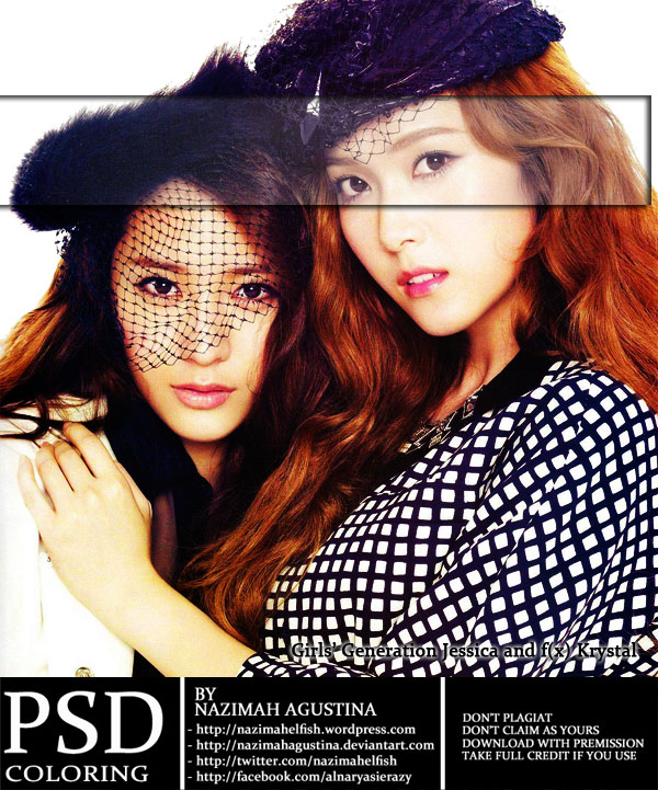 PSD Coloring Jung Sister hard brown by nazimah agustina