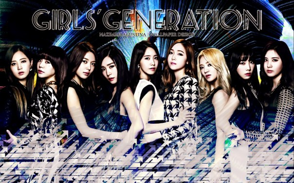 SNSD THE BEST wallpaper version 2 graphic good dark amazing beauty power of nine