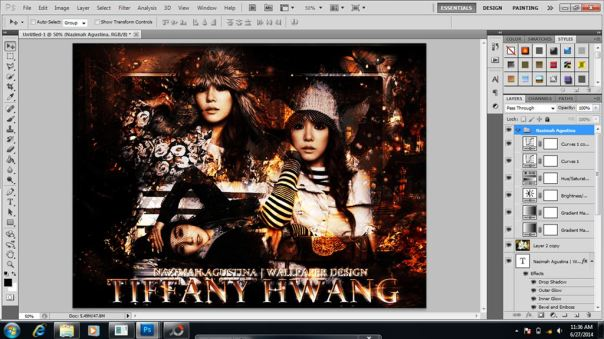 tutorial how to make abstract wallpaper using photoshop tiffany snsd