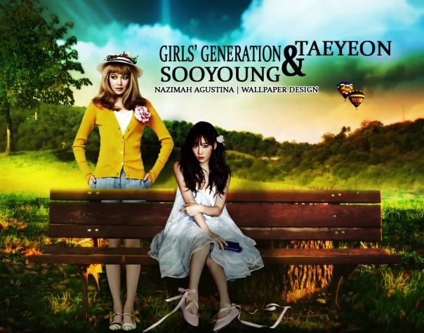 beauty choi sooyoung and child kim taeyeon snsd gg soshi on manipulation wallpaper nature new 2014