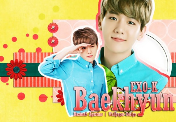 byun baekhyun exo-k korean cute yellow wallpaper for ivy club by nazimah agustina
