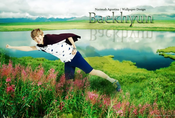 byun baekhyun in the alaska nature wallpaper by nazimah agustina