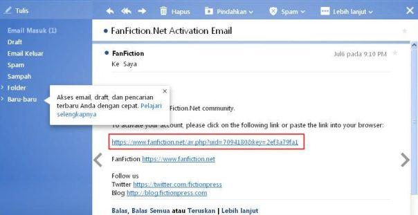 cara membuat akun baru di situs fanfiction