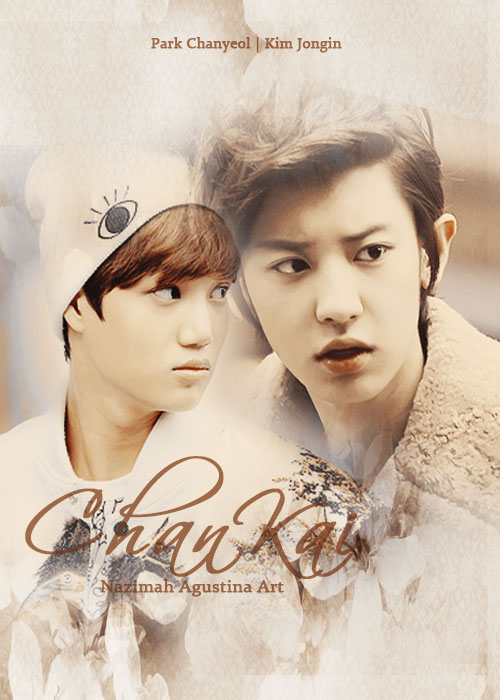 chankai chanyeol and kai copule chanjong cover fanfiction art by nazimah agustina simple soft calm