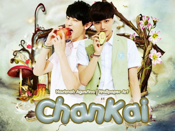 chanyeol kai exo chankai cute wallpaper by nazimah agustina for tutorial photoshop