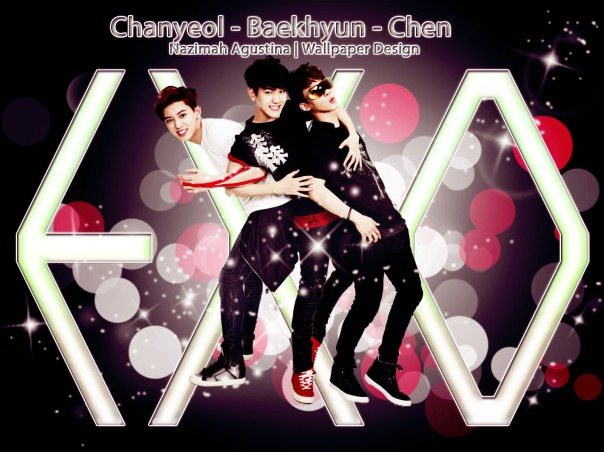 exo chanyeol baekhyun chen graphic wallpaper new