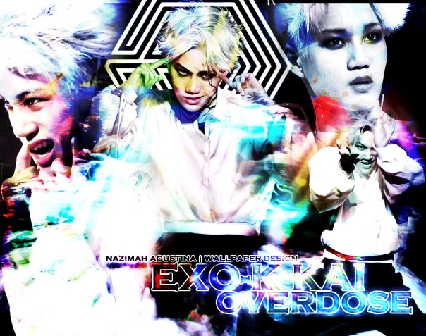 KAI OVERdose by nazimah agustina wallpaper kim jongin comeback 2014 blue version