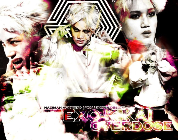 KAI OVERdose by nazimah agustina wallpaper kim jongin comeback 2014 red version