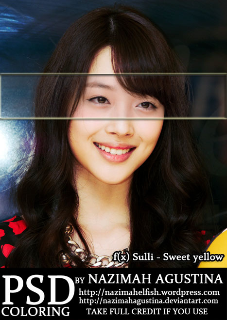 preview psd coloring f(x) sulli sweet yellow by nazimah agustina