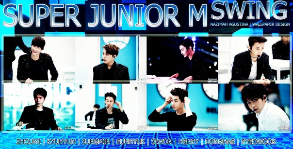 SJM super junior m for swing comeback china korean behind teh scene live wallpaper by nazimah agustina