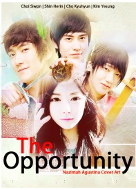 the oppotunity choi siwon cho kyuhyun kim yesung school life romance cover poster super junior shin haerin