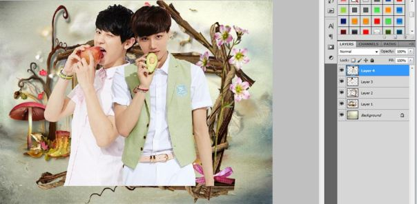 tutorial how to make cute wallpaper using photoshop cs5 chanyeol kai exo 3