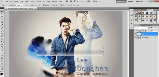 tutorial how to make striped light using photoshop donghae super junior