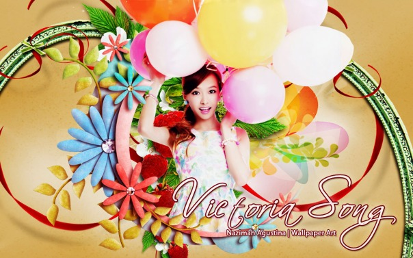 victoria song qian f(x) leader beauty woman chinese wallpaper new flowers ballon