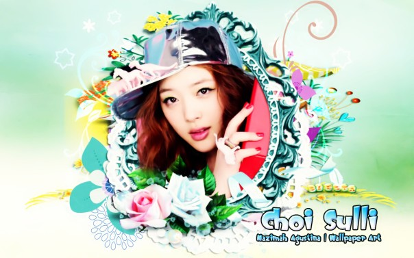 we love choi sulli wallpaper flowers hiatus 2014