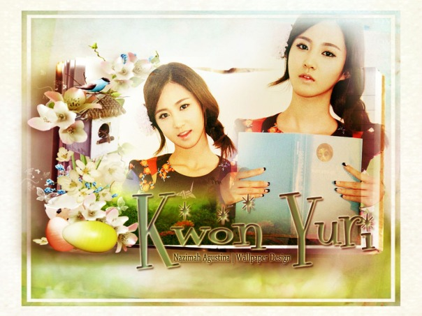 yuri snsd scrapbook nature wallpaper by nazimah agustina