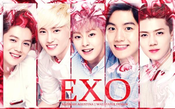 EXO for nature republic wallpaper by nazimah agustina luhan joonmyeon minseok baekhyun sehun