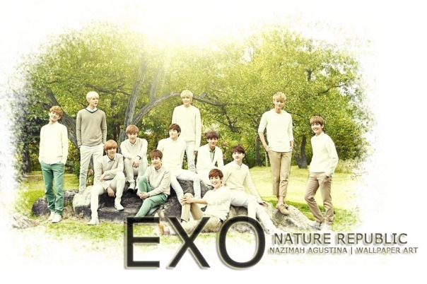 exo for nature republic wallpaper by nazimah agustina
