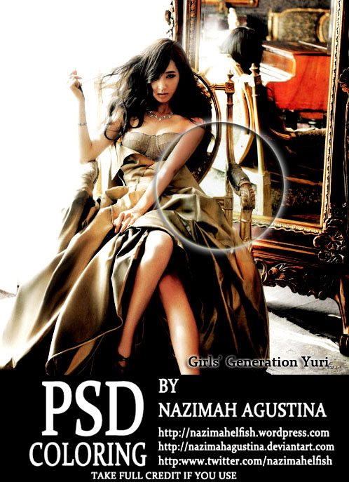 PSD Coloring SNSD Yuri - Hard