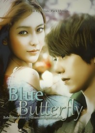BLUE BUTTERFLY cho kyuhyun baby angela model prof park hyojin ulzzang super junior poster fanfiction sad hurt angst hard
