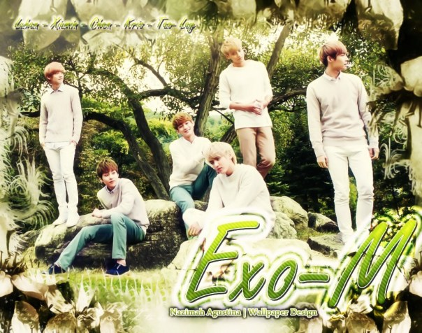 exo-m nature republic wallpaper 2014 new wu yifan kim jongdae xi luhan kim minseok huang zi tao zhang yixing handsome park forest
