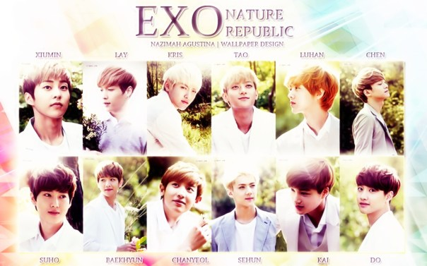 exo ot12 nature republic picspam wallpaper xiulay kristao luchen subaek chanhun kaisoo vintage and innocent boys handosme