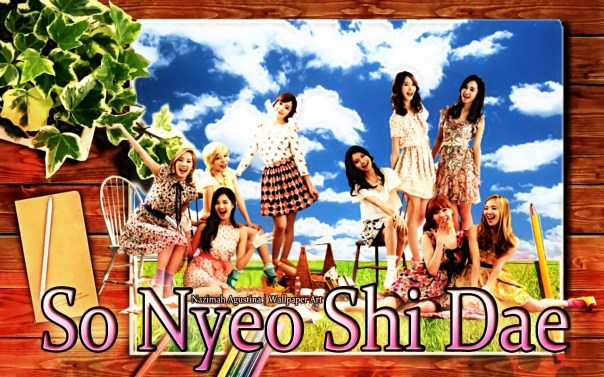 snsd cute wallpaper beach park scrapbook nine girls by nazimah agustina