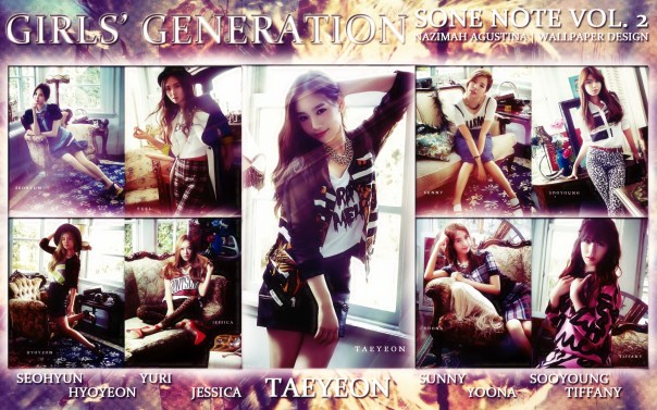 snsd sone note volume 2 japan kim taeyeon version vintage beauty natural flower power paprazzi time machine