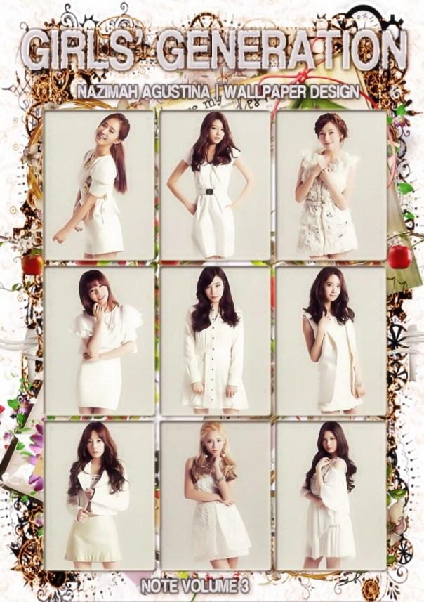 snsd sone note voume 3 japan 2014 elegant beauty white innocent yulsic taeny yoonhyun hyoyeon soosun