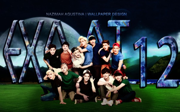 EXO OT12 xiumin kris luhan tao kai sehun suho lay cen chanyeol baekhyun do wallpaper nature new by nazimah agustina art editing