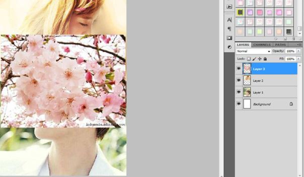how to make simple soft poster using photoshop baekyeon couple taeyeon snsd baekhyun exo 1