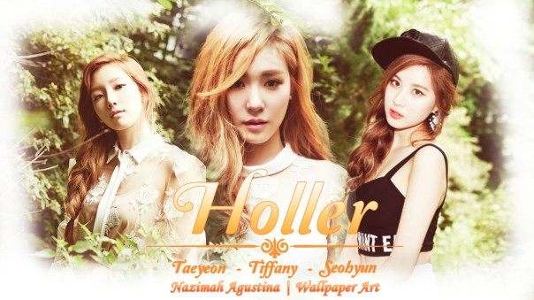 taetiseo taeyeon tiffany seohyun snsd holler 2nd mini album wallpaper by nazimah agustina
